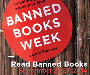 Read Banned Books! Artwork courtesy of the American Library Association